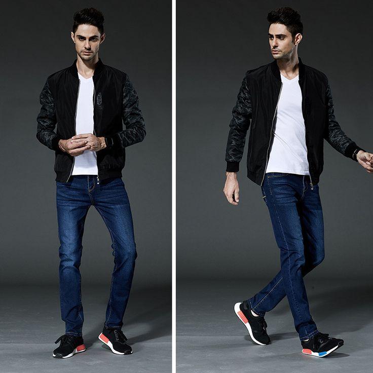 Mens Jeans Blue Denim Jean Designer Slim Fit Stretch Jeans Good Pants Trousers For Men