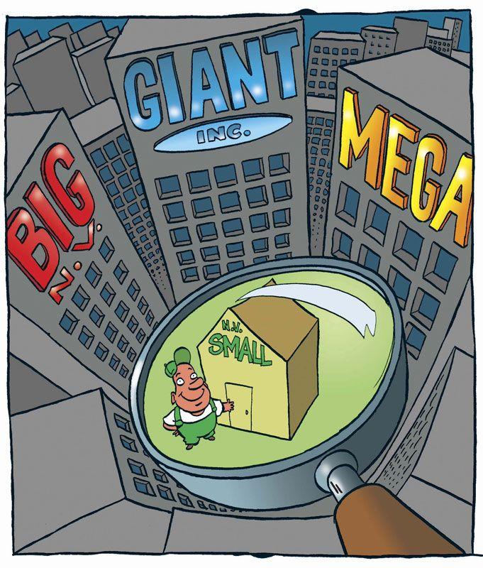 Kleinere bedrijven in de regio