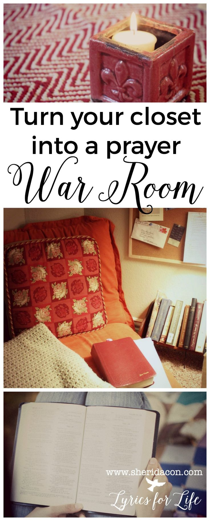 """Want to transform even the tiniest space into a prayer closet or a personal """"war room?"""" Here's how you can get started today!"""