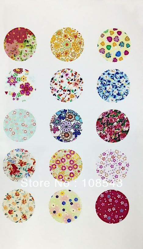 Free shipping (15pcs/lot) 20mm round flower cabochons glued on the image transparent cabochon setting 559 -in Spacers from Jewelry on Aliexp...