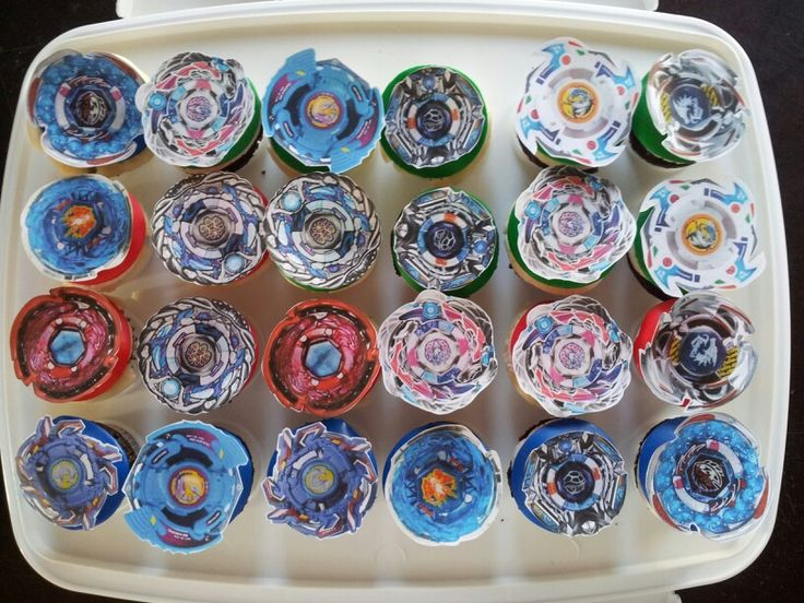 Beyblade Cupcakes Jameel S Birthday Party In 2019