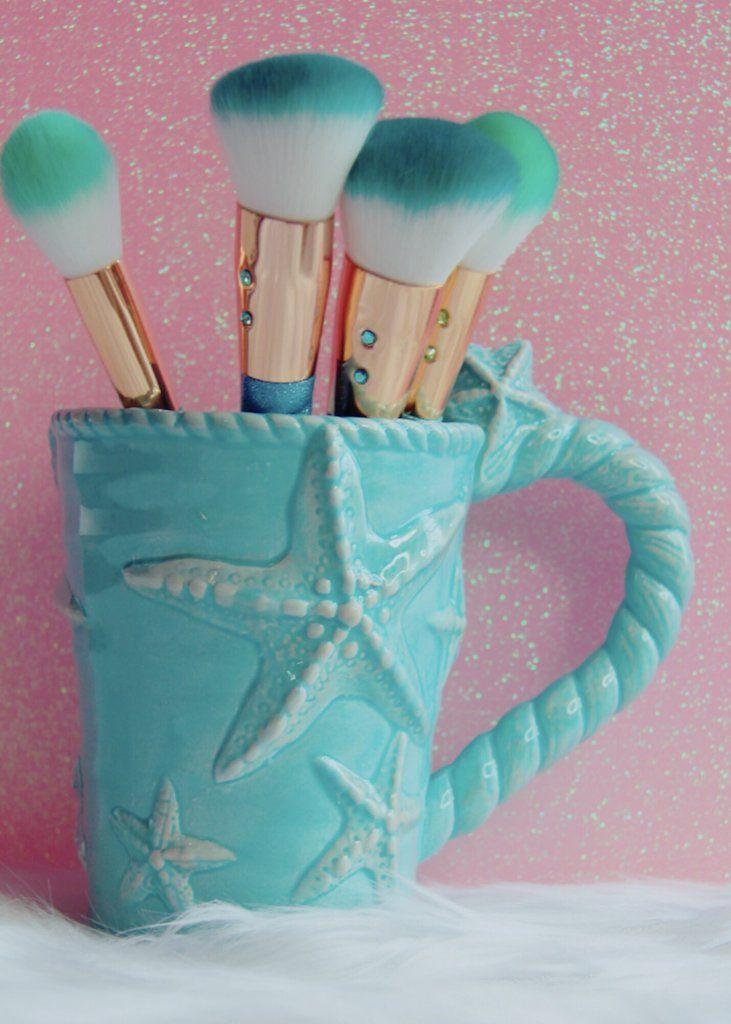 Mermaid teal mug