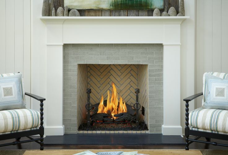 fireplace surround that feels clean classic and warm all