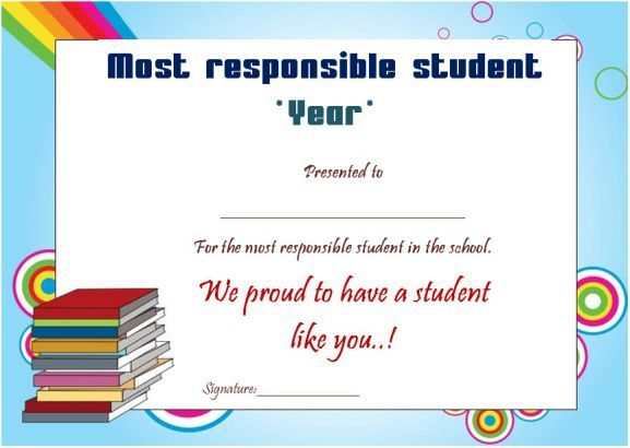 Most Responsible Student Of The Year Award Student Elementary Student Of The Year