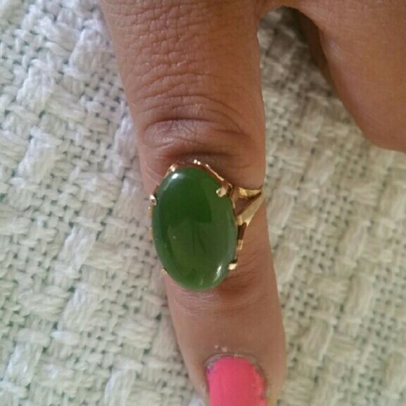Vintage 14k gold jade ring Vintage 14k gold  jade ring , stamped 14k Jewelry Rings