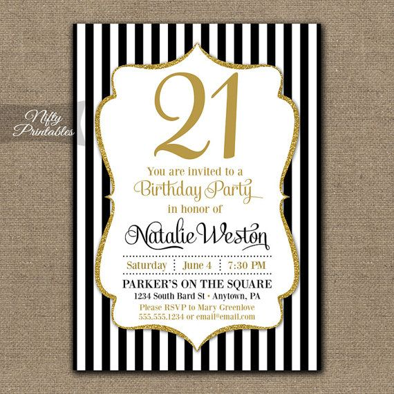 21 bday invitations
