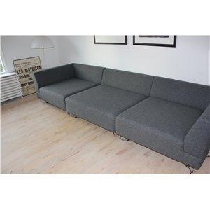Sofa, uld, 4 pers., Bolia - Orlando, 2 hjørnemoduler og 1