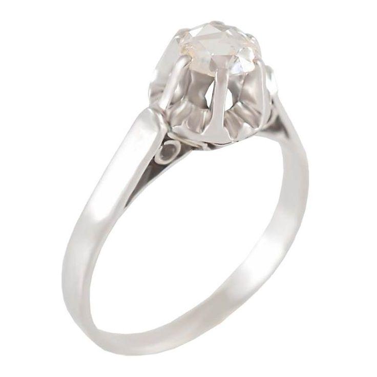 ΜΜ14- Λευκόχρυσο μονόπετρο δαχτυλίδι με διαμάντι
