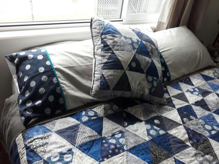 Pillowcases and matching cushion