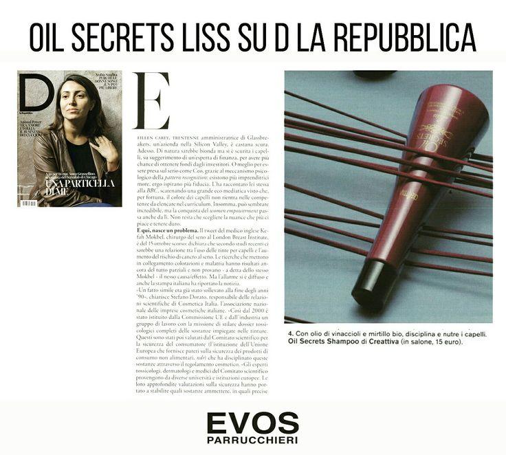 #OilSecrets #LISCI by @Creattiva_prof  alchimia lisciante per capelli setosi effetto specchio 😍👧  Da @EVOS_italia