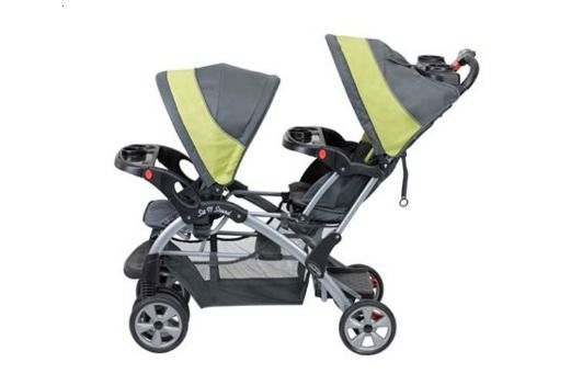 Sit n Stand Double Baby Stroller Removable Tray w/Cup Holder Removable Rear Seat #BabyTrend