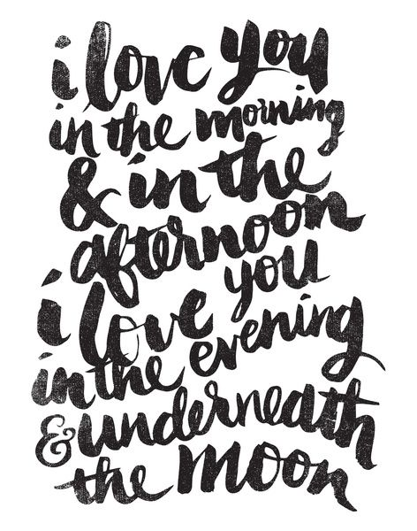 I love you in the morning