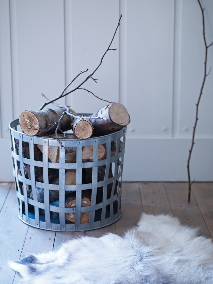 Zinc Log Basket - I've wrecked a few baskets that couldn't hold up to the battering:) Good thinking!