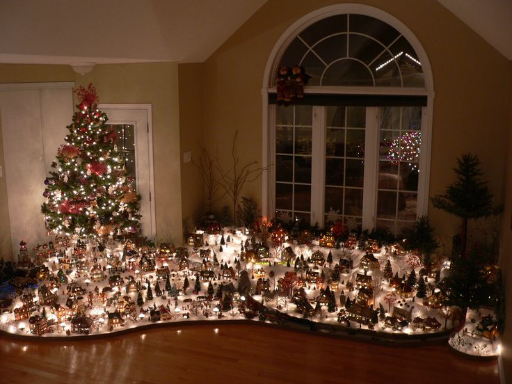 Where To Put The Christmas Tree the 25+ best christmas village display ideas on pinterest