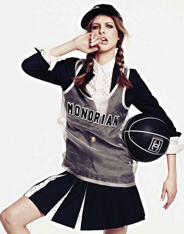 """Grazia France Chanel lux sports wear """"uber trendy"""""""