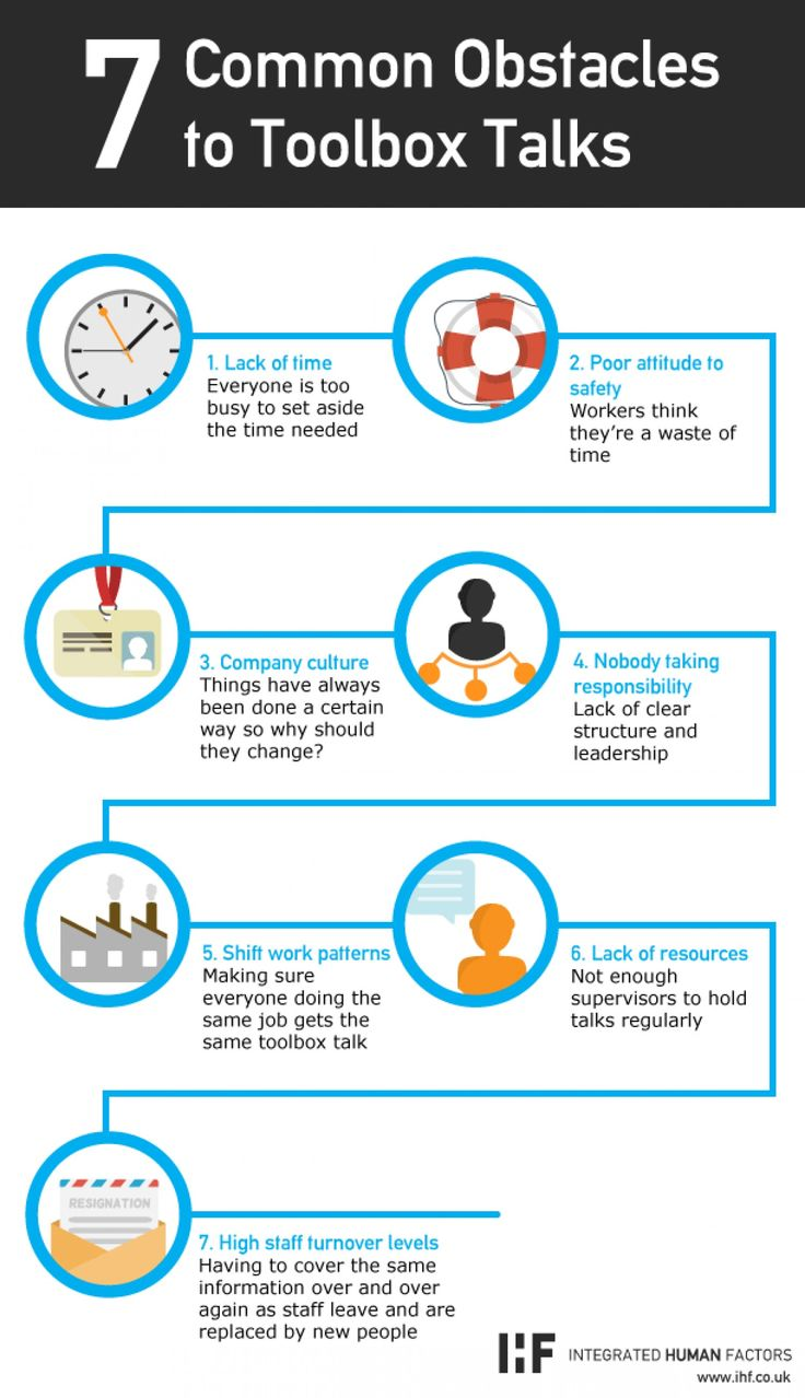 7 Common Obstacles to Toolbox Talks Infographic