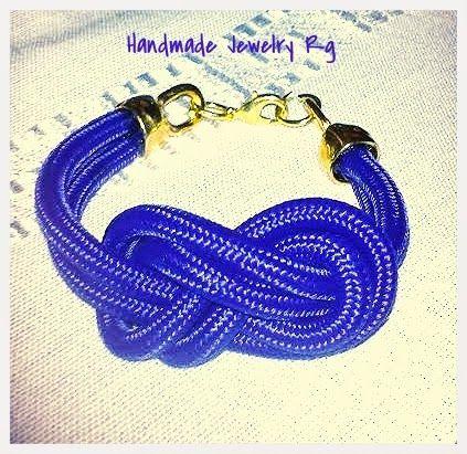 Handmade Jewelry Rg: Bracelet blue infinity
