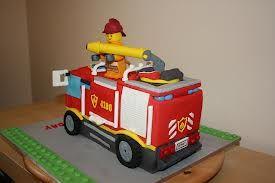 Fireman lego city cake