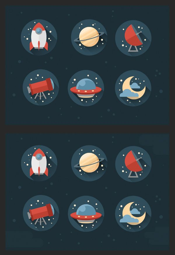 add a dark deep space background with stars and stripes
