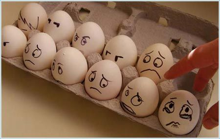 drawing faces on eggs to surprise some one