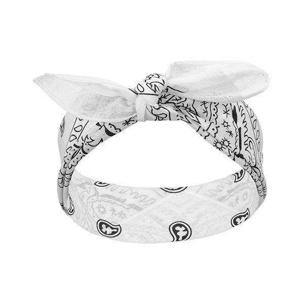 bandana /biała/ - ZOHRA   Hurtownia importer biżuterii zegarków... ❤ liked on Polyvore featuring accessories, hair accessories, hats, hair, headbands, bandana headband, hair bands accessories, headband bandana, head wrap headband and bandanna headband