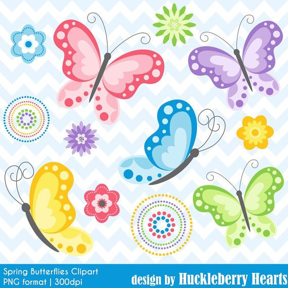 80% OFF SALE Butterfly Clipart Butterfly Clip Art Spring | Etsy
