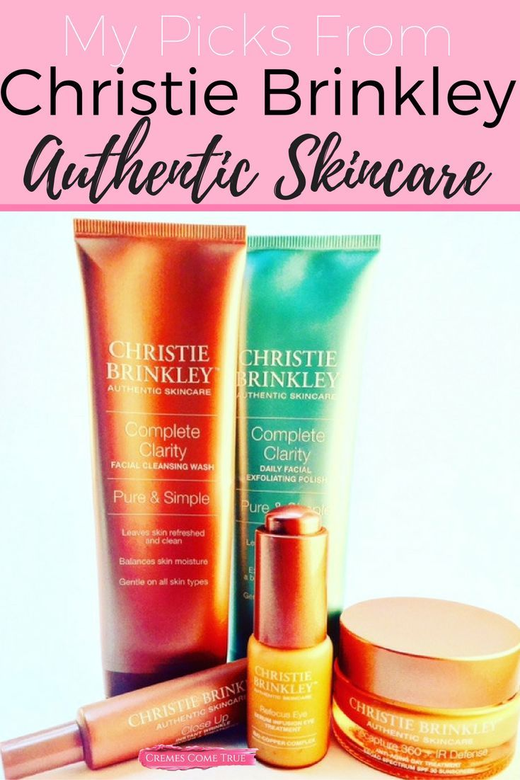 Christie Brinkley Authentic Skincare Review Beauty Over 30 Pinterest