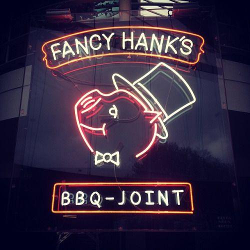 Mr Pickles, Fancy Hanks neon sign, 2014 http://fancyhanks.com/