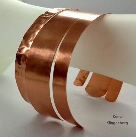 Stacking Copper Bracelets - tutorial by Rena Klingenberg