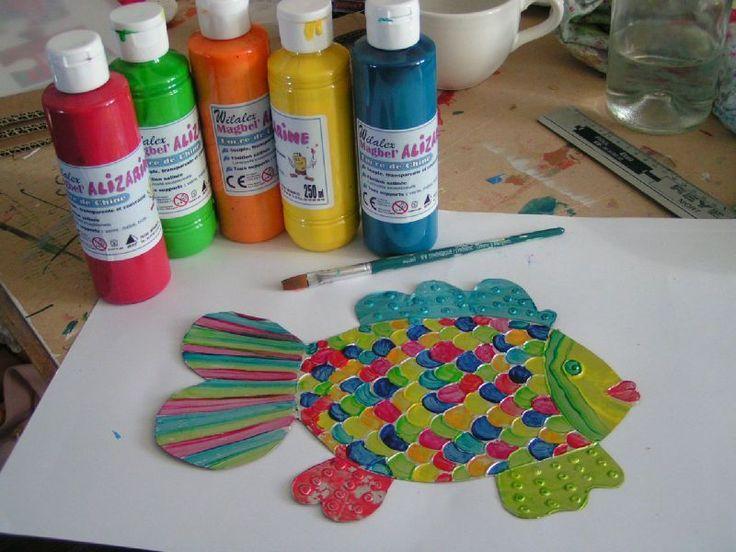 1000 id es sur le th me coloriage poisson sur pinterest for Poisson rouge plastique