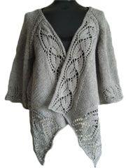 Cardigan & Jacket Knit Patterns - Dramatic Lace Top-Down Wrap Cardigan