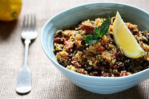 Protein-Happy Quinoa Salad: Protein Quinoa, Protein Happy Quinoa, Green Salad, Proteinhappi Quinoa, Beans Salad, Quinoa Salad, Vegans Lunches, Quinoa Recipes, Food Quinoa