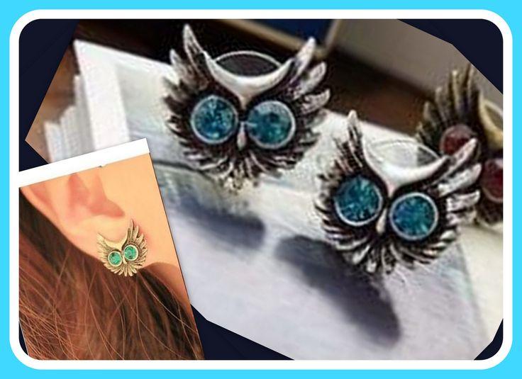 Boucles d'oreilles en TOPAZE BLEUE , grand yeux de hibou : Boucles d'oreille par…