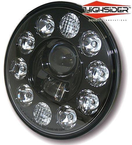 """Highsider 7"""" LED Motorcycle Headlight Lens Insert"""