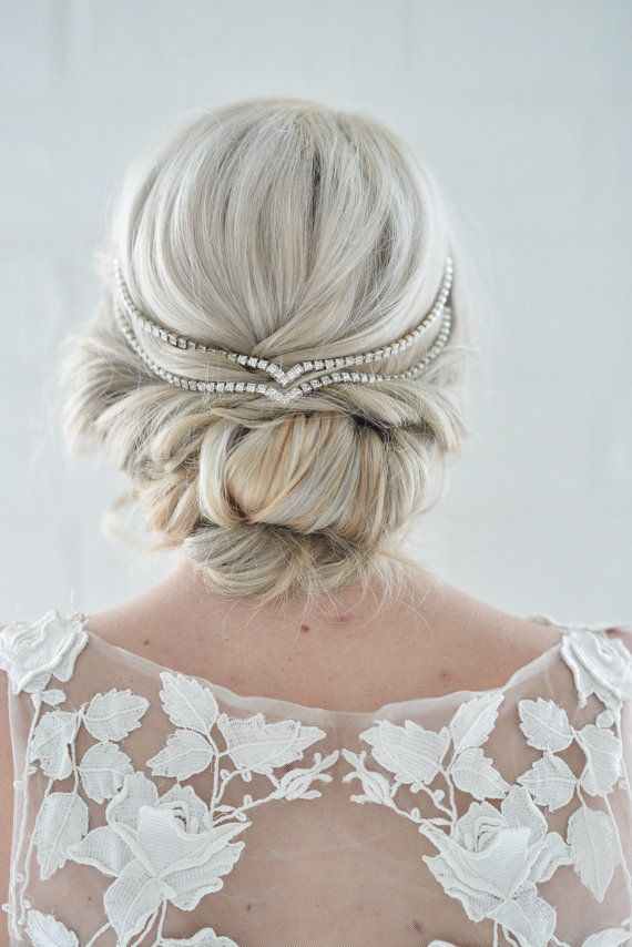 Hair Jewelry Simple Wedding Head Chain Unique Bridal by danani