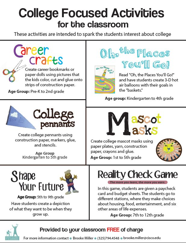 Creative activities for college students