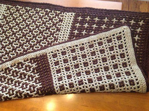 Interlocking Crochet Afghan Flickr Photo Sharing