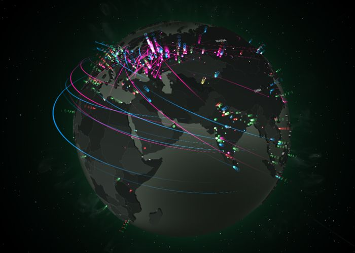 Cyberthreat Real-Time Map #webdesign #inspiration #UI