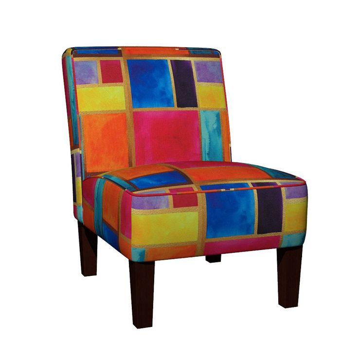 Maran Slipper Chair featuring Moroccan Stained Glass by jessmorris | Roostery Home Decor