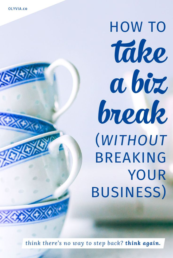 Dreaming about stepping back a bit from online entrepreneurship? Need to take a business break? It's possible, and you can even keep your brand afloat while you do it. Here's how!