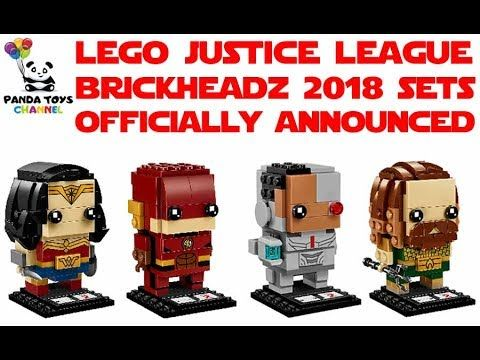LEGO JUSTICE LEAGUE BRICKHEADZ 2018 OFFICIALLY ANNOUNCED - 41598 - 41599...