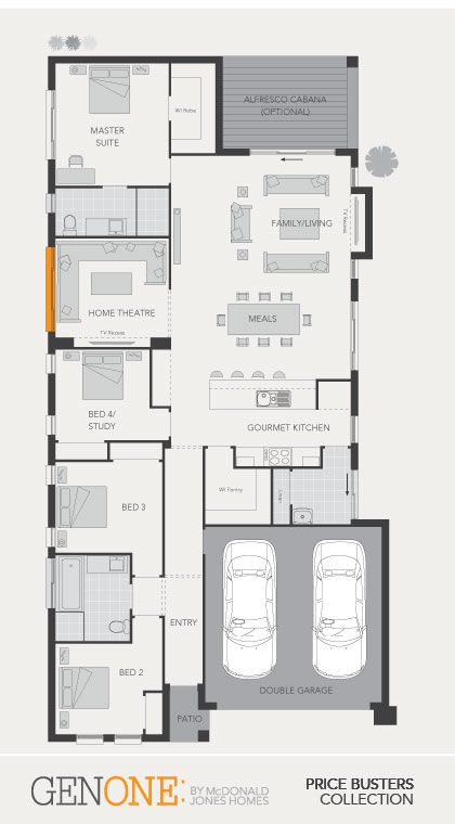 McDonald Jones Homes - Cordova Two Collection - Floorplan #Floorplans #design #luxuryhome #mcdonaldjones