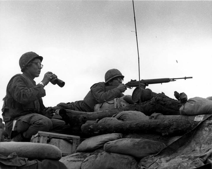 On January 20, 1968, North Vietnamese Army units attacked a U.S. Marine Corps company on patrol near the Khe Sanh Combat Base. This firefight soon exploded into one of the most significant engagements of the Vietnam War, when between 15,000 and 30,000 North Vietnamese troops, having carefully surrounded Khe Sanh, assaulted a garrison of approximately 6,000 U.S. Marines. The siege at Khe Sanh lasted for nearly 3 months, during which time the massive Communist Tet Offensive erupted.