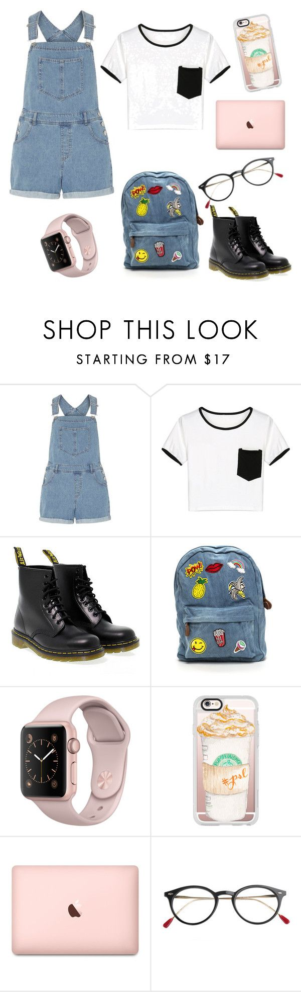 """""""Simple and Easy School Outfit"""" by matetskieeeee on Polyvore featuring Dorothy Perkins, WithChic, Dr. Martens and Casetify"""