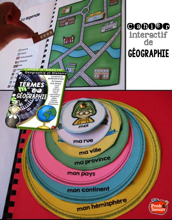 Moi dans le monde: cahier interactif de Géographie / Profs et Soeurs