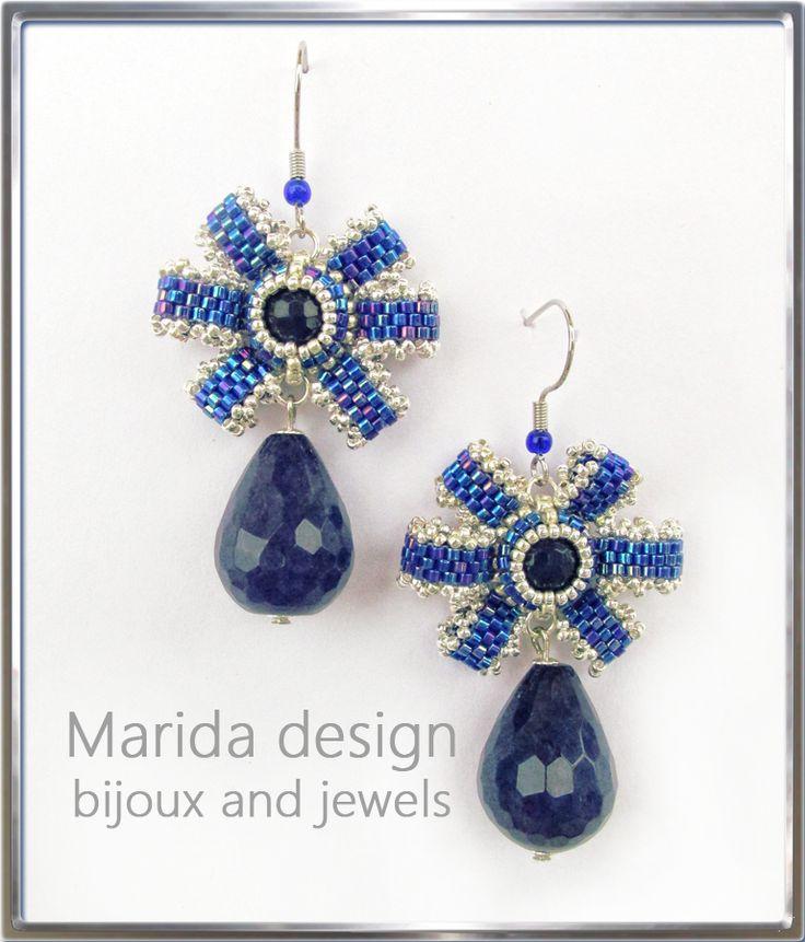 """""""In the blue"""" earrings"""