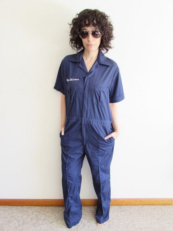 Vintage Blue Uniform Coveralls Jumpsuit Walls Work Wear Rowan