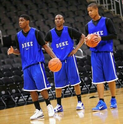 Kyrie Irving, Nolan Smith and Andre Dawkins