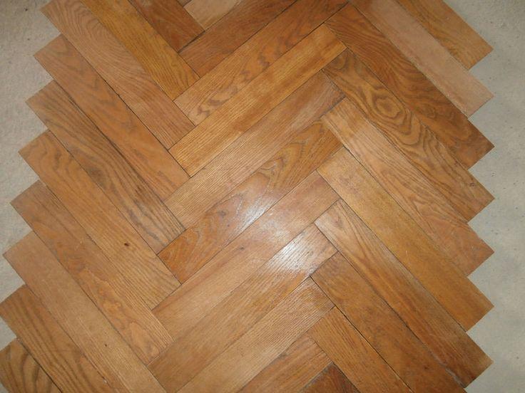 Antique french heringbone block floors- set of 645sq ft