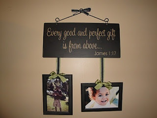 """DIY """"Every good and perfect gift is from above...""""  photo gift."""